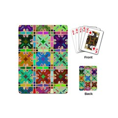Abstract Pattern Background Design Playing Cards (mini)