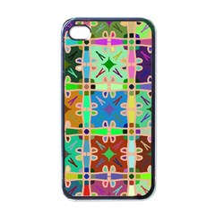 Abstract Pattern Background Design Apple Iphone 4 Case (black)