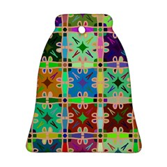 Abstract Pattern Background Design Bell Ornament (2 Sides)