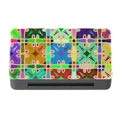 Abstract Pattern Background Design Memory Card Reader With Cf