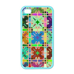 Abstract Pattern Background Design Apple Iphone 4 Case (color)