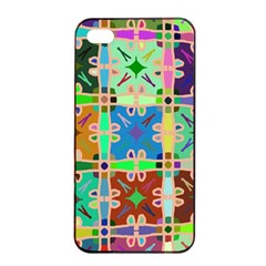 Abstract Pattern Background Design Apple Iphone 4/4s Seamless Case (black)