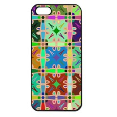 Abstract Pattern Background Design Apple Iphone 5 Seamless Case (black)