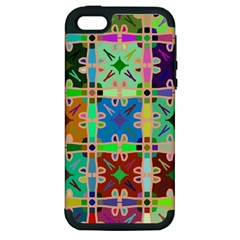 Abstract Pattern Background Design Apple Iphone 5 Hardshell Case (pc+silicone)