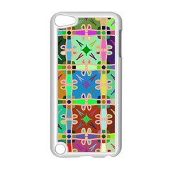 Abstract Pattern Background Design Apple Ipod Touch 5 Case (white)