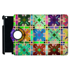 Abstract Pattern Background Design Apple Ipad 3/4 Flip 360 Case