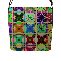 Abstract Pattern Background Design Flap Messenger Bag (l)
