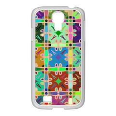 Abstract Pattern Background Design Samsung Galaxy S4 I9500/ I9505 Case (white)