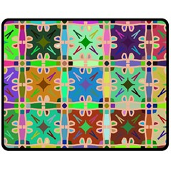 Abstract Pattern Background Design Double Sided Fleece Blanket (medium)