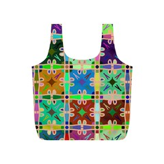 Abstract Pattern Background Design Full Print Recycle Bags (s)