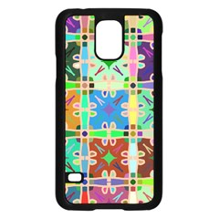 Abstract Pattern Background Design Samsung Galaxy S5 Case (black)