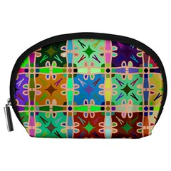 Abstract Pattern Background Design Accessory Pouches (large)