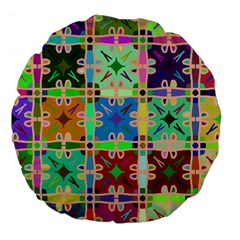 Abstract Pattern Background Design Large 18  Premium Flano Round Cushions