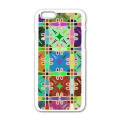Abstract Pattern Background Design Apple Iphone 6/6s White Enamel Case