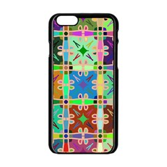 Abstract Pattern Background Design Apple Iphone 6/6s Black Enamel Case