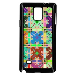Abstract Pattern Background Design Samsung Galaxy Note 4 Case (black)