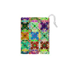 Abstract Pattern Background Design Drawstring Pouches (xs)