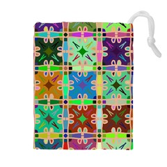 Abstract Pattern Background Design Drawstring Pouches (extra Large)
