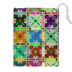 Abstract Pattern Background Design Drawstring Pouches (xxl)