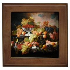 Abundance Of Fruit Severin Roesen Framed Tiles