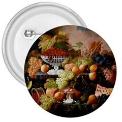Abundance Of Fruit Severin Roesen 3  Buttons
