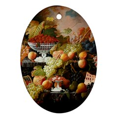 Abundance Of Fruit Severin Roesen Ornament (oval)