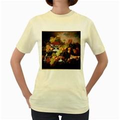Abundance Of Fruit Severin Roesen Women s Yellow T Shirt