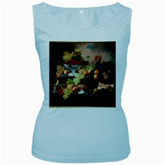 Abundance Of Fruit Severin Roesen Women s Baby Blue Tank Top