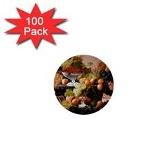 Abundance Of Fruit Severin Roesen 1  Mini Buttons (100 Pack)