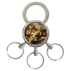 Abundance Of Fruit Severin Roesen 3-Ring Key Chains