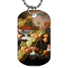 Abundance Of Fruit Severin Roesen Dog Tag (One Side)