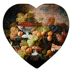 Abundance Of Fruit Severin Roesen Jigsaw Puzzle (heart)