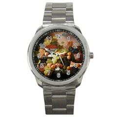 Abundance Of Fruit Severin Roesen Sport Metal Watch