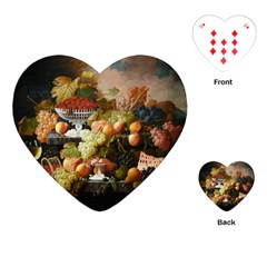 Abundance Of Fruit Severin Roesen Playing Cards (heart)