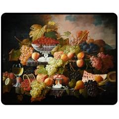 Abundance Of Fruit Severin Roesen Fleece Blanket (medium)