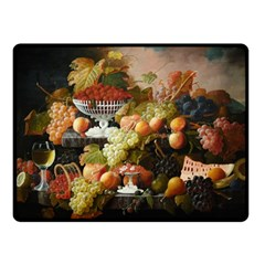Abundance Of Fruit Severin Roesen Fleece Blanket (small)