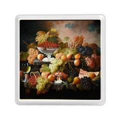 Abundance Of Fruit Severin Roesen Memory Card Reader (square)