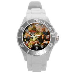 Abundance Of Fruit Severin Roesen Round Plastic Sport Watch (l)