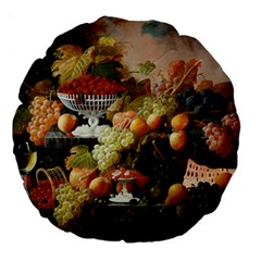 Abundance Of Fruit Severin Roesen Large 18  Premium Round Cushions