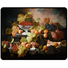 Abundance Of Fruit Severin Roesen Double Sided Fleece Blanket (medium)