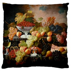 Abundance Of Fruit Severin Roesen Large Flano Cushion Case (two Sides)