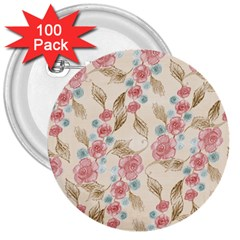 Background Page Template Floral 3  Buttons (100 Pack)