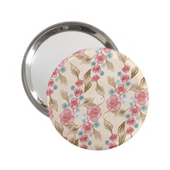 Background Page Template Floral 2 25  Handbag Mirrors