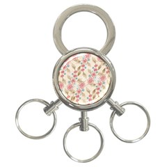 Background Page Template Floral 3 Ring Key Chains