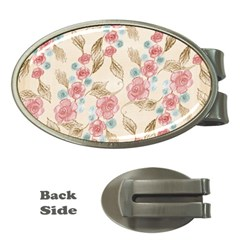 Background Page Template Floral Money Clips (oval)