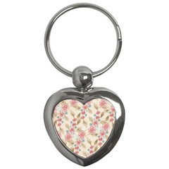 Background Page Template Floral Key Chains (heart)