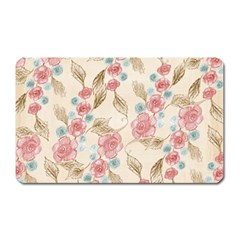 Background Page Template Floral Magnet (rectangular)