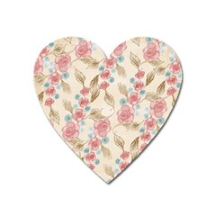 Background Page Template Floral Heart Magnet
