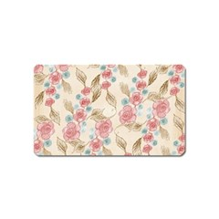 Background Page Template Floral Magnet (name Card)