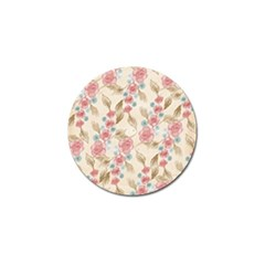Background Page Template Floral Golf Ball Marker (4 Pack)